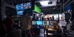 Virtual Production Set Computers Monitors