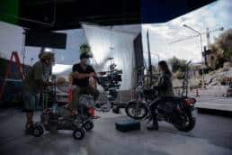 Virtual Production Motorcycle Masks Camera Operators The Other End